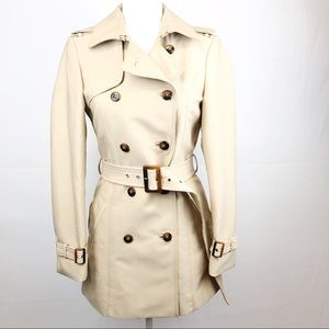 ZARA WOMAN Trench Style Button Down Belted Coat